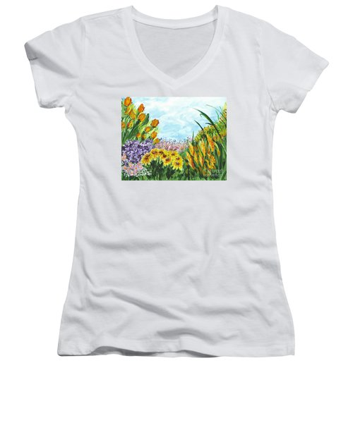 In My Garden Women's V-Neck (Athletic Fit)