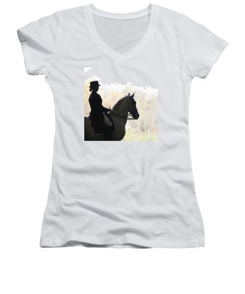 Women's V-Neck T-Shirt (Junior Cut) featuring the photograph In The Distance by Carol Lynn Coronios