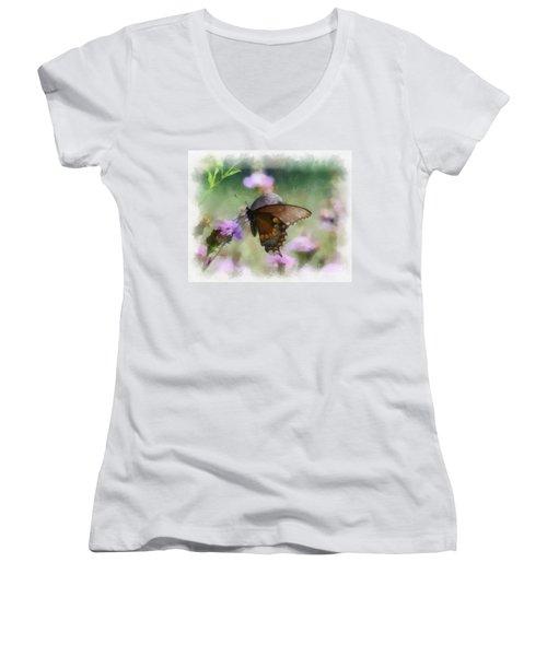 In The Flowers Women's V-Neck