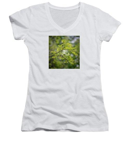 In The Green Women's V-Neck T-Shirt (Junior Cut) by Kerri Farley