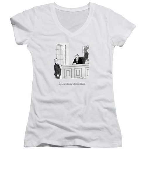 In The Interest Of Streamlining The Judicial Women's V-Neck