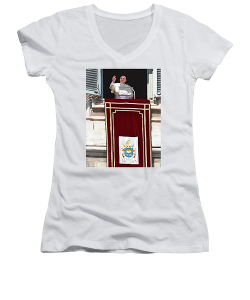 In The Name Of The Father Women's V-Neck (Athletic Fit)