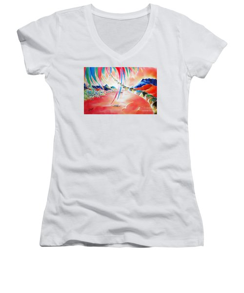In The Sunset Women's V-Neck