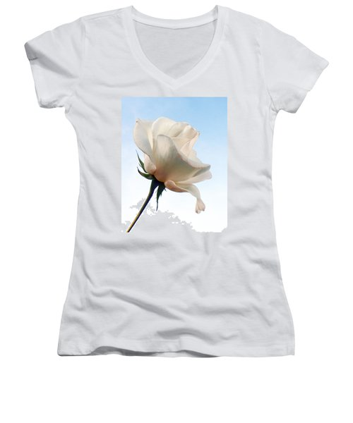 Women's V-Neck T-Shirt (Junior Cut) featuring the photograph Innocence by Deb Halloran