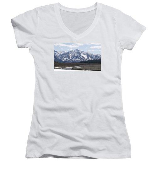 Inside Denali National Park 4 Women's V-Neck (Athletic Fit)
