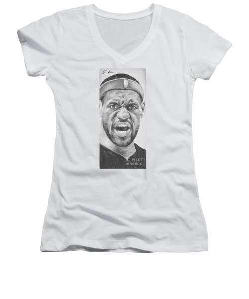 Intensity Lebron James Women's V-Neck T-Shirt