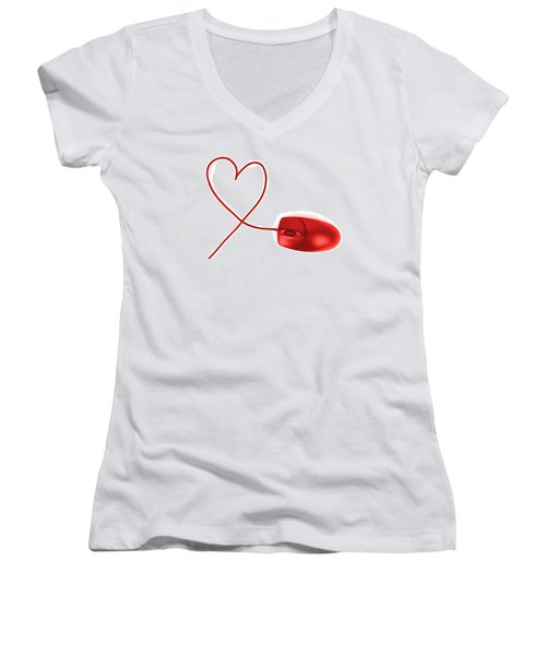 Internet Love Women's V-Neck (Athletic Fit)