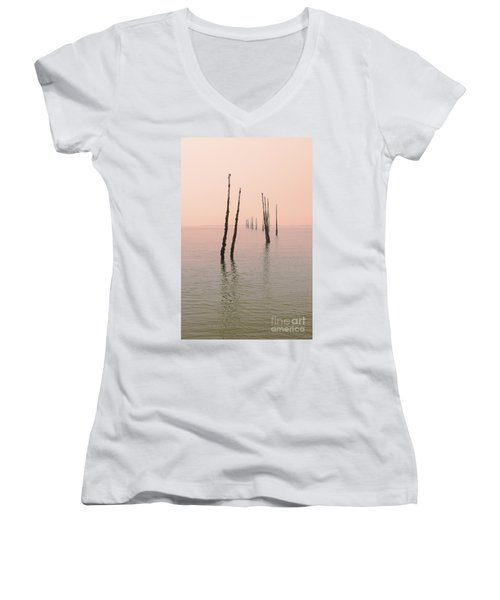 Into The Pink Sunset... Women's V-Neck