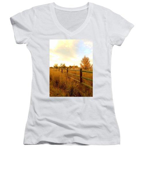 Into The Sunset Women's V-Neck T-Shirt