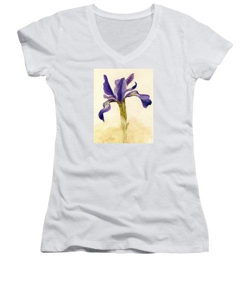 Iris Women's V-Neck T-Shirt (Junior Cut) by Barbie Corbett-Newmin
