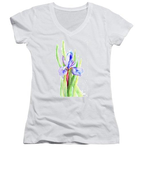 Iris Flowers Women's V-Neck T-Shirt