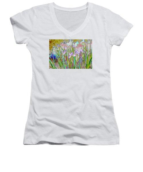 Iris Garden Women's V-Neck