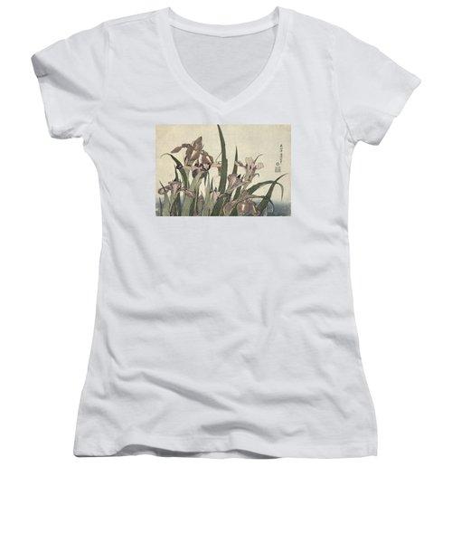 Irises And Grasshopper Women's V-Neck (Athletic Fit)