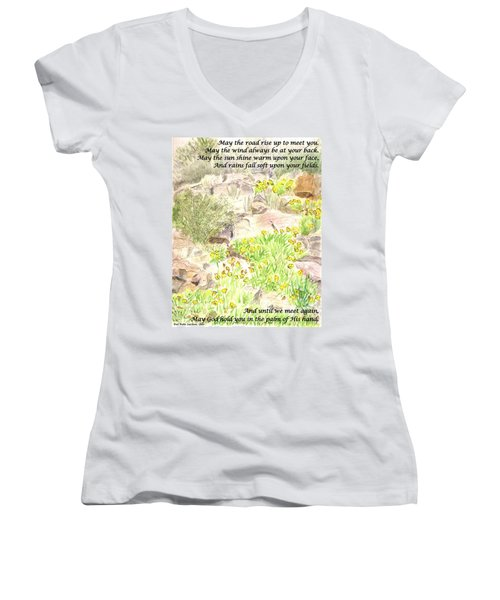 Irish Blessing Women's V-Neck T-Shirt