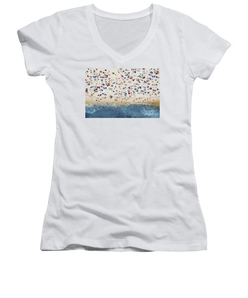 Island Beach State Park Women's V-Neck (Athletic Fit)
