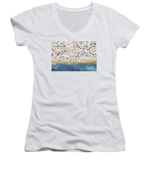 Island Beach State Park Women's V-Neck T-Shirt