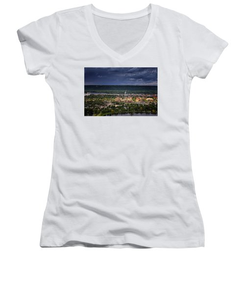 Island In The Storm Women's V-Neck
