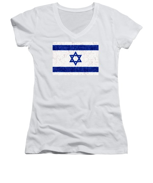 Israel Star Of David Flag Batik Women's V-Neck