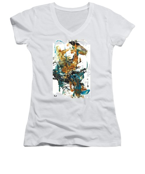 It Went This Way 136.090710 Women's V-Neck T-Shirt (Junior Cut) by Kris Haas
