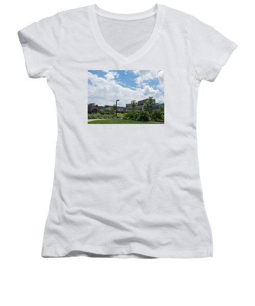 Ithaca College Campus Women's V-Neck T-Shirt