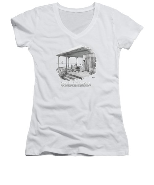 I've Got An Idea For A Story: Gus And Ethel Live Women's V-Neck