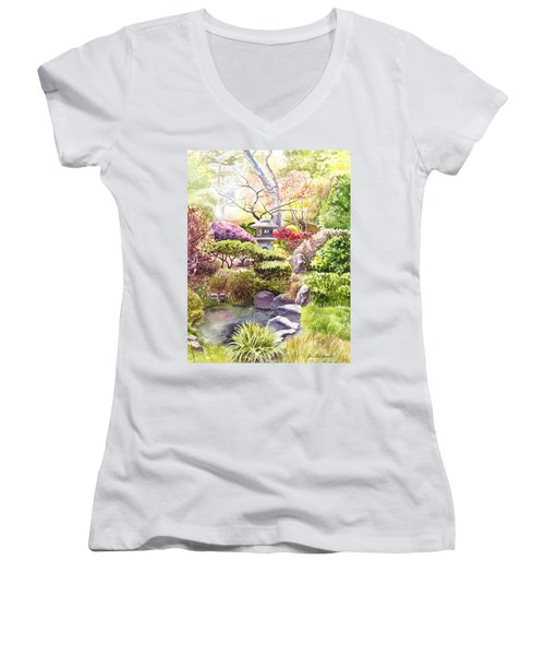 San Francisco Golden Gate Park Japanese Tea Garden  Women's V-Neck