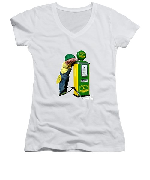 John Deere Kid Women's V-Neck (Athletic Fit)