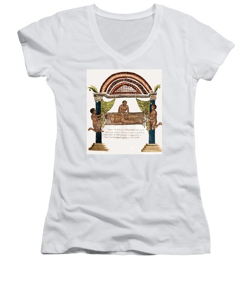 Women's V-Neck T-Shirt (Junior Cut) featuring the photograph Joint Dislocation Treatment, 1st by Science Source