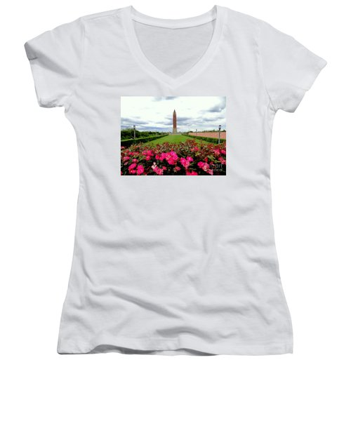 Jones Beach Water Tower Women's V-Neck T-Shirt