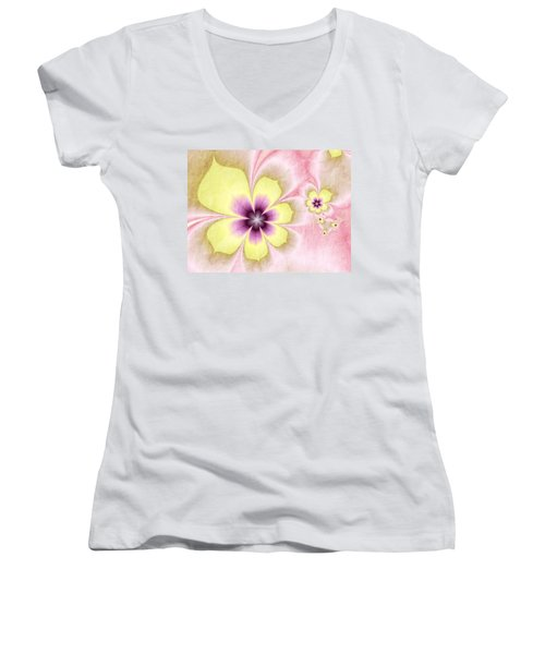 Joy Women's V-Neck T-Shirt (Junior Cut) by Gabiw Art