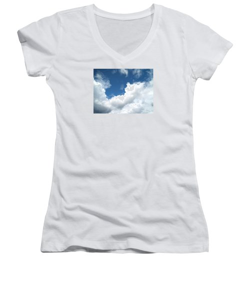 Women's V-Neck T-Shirt (Junior Cut) featuring the photograph Just Breathe ... by Susan  Dimitrakopoulos