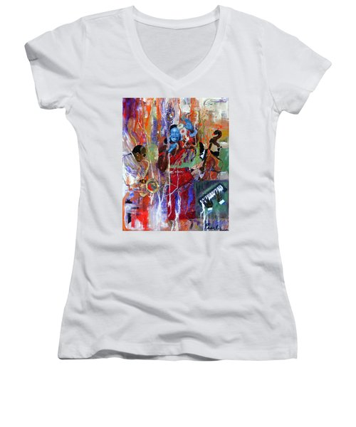 Just Jazzin Women's V-Neck T-Shirt