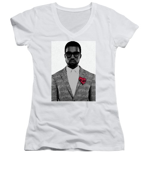 Kanye West  Women's V-Neck T-Shirt