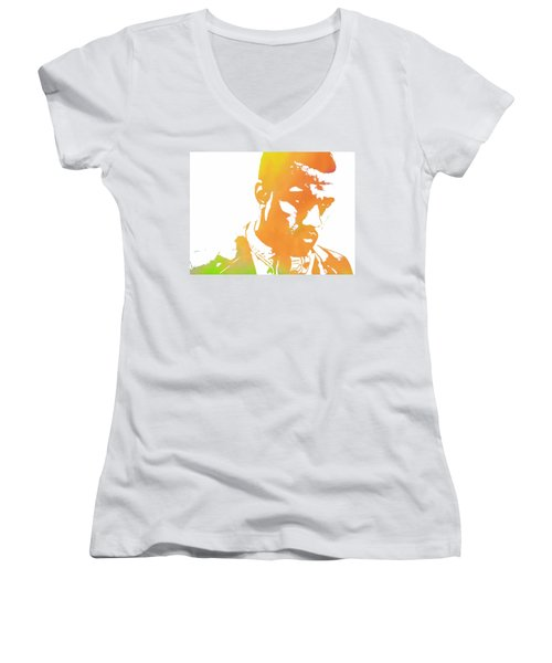 Kanye West Pop Art Women's V-Neck T-Shirt