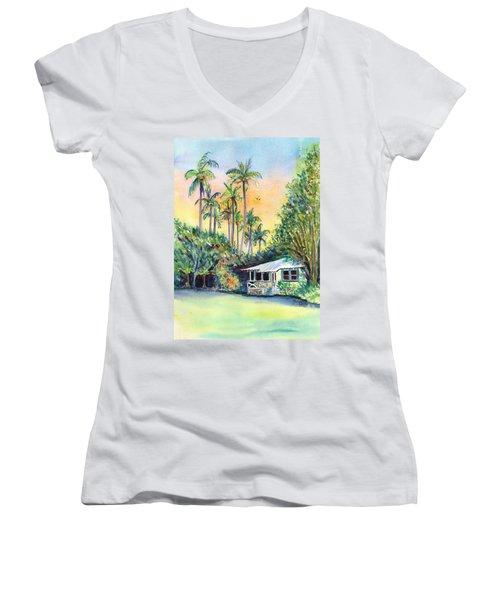 Kauai West Side Cottage Women's V-Neck