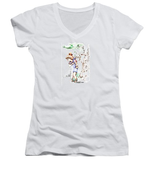 Trail Blazing Edition Kidnabbed 2 Foto Women's V-Neck (Athletic Fit)