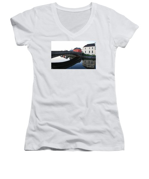 Women's V-Neck T-Shirt (Junior Cut) featuring the photograph Kilkenny by Mary Carol Story