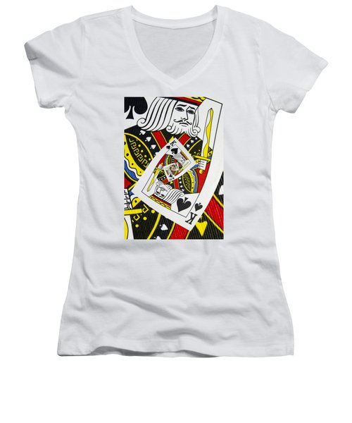 King Of Spades Collage Women's V-Neck