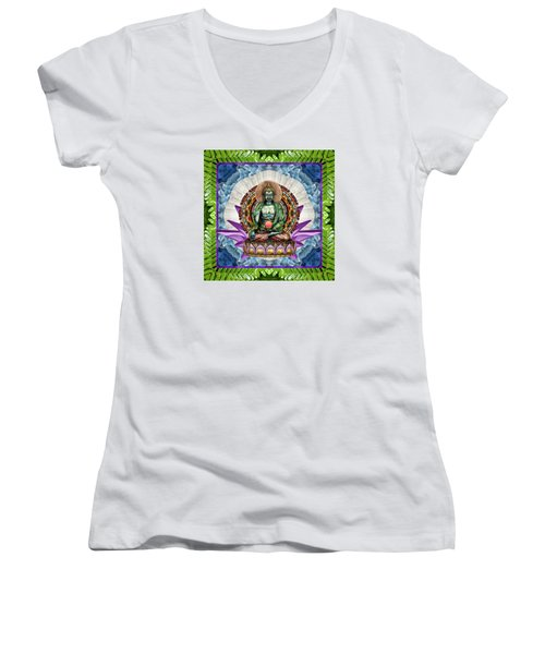 Women's V-Neck T-Shirt (Junior Cut) featuring the photograph King Panacea by Bell And Todd