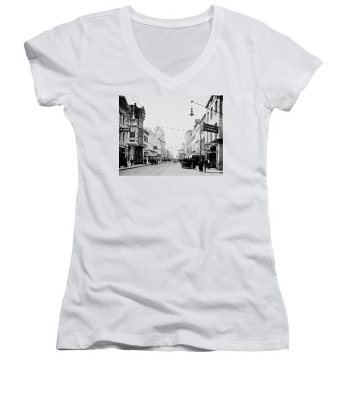 King Street In Charleston South Carolina Circa 1910 Women's V-Neck (Athletic Fit)