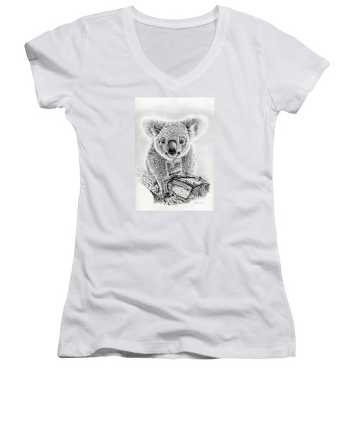 Koala Oxley Twinkles Women's V-Neck T-Shirt (Junior Cut) by Remrov