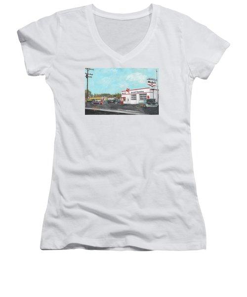 Koki's Garage Women's V-Neck T-Shirt