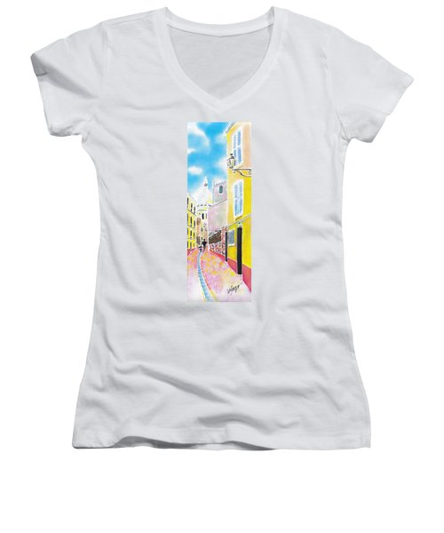 La Butte Montmartre Women's V-Neck