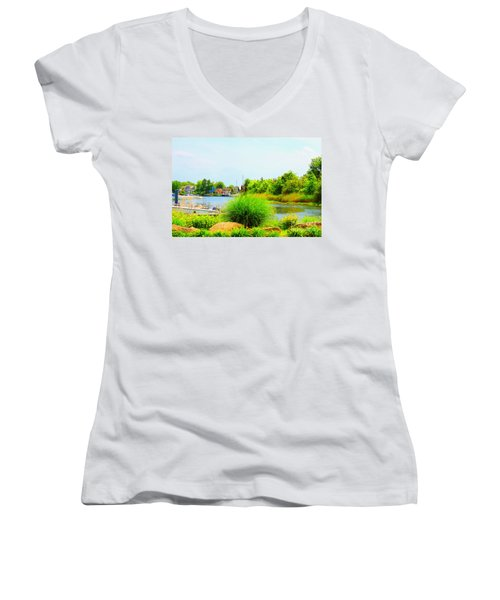 Lagoon  Women's V-Neck (Athletic Fit)