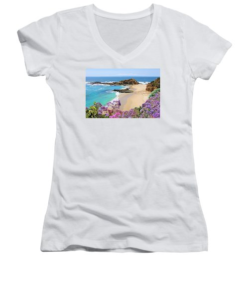 Laguna Beach Coastline Women's V-Neck