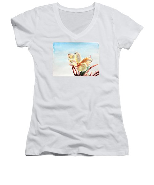 Laguna Flower Women's V-Neck (Athletic Fit)