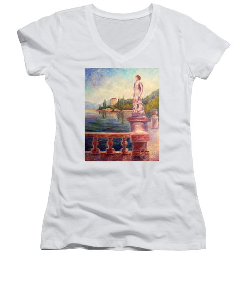 Lake Como View Women's V-Neck
