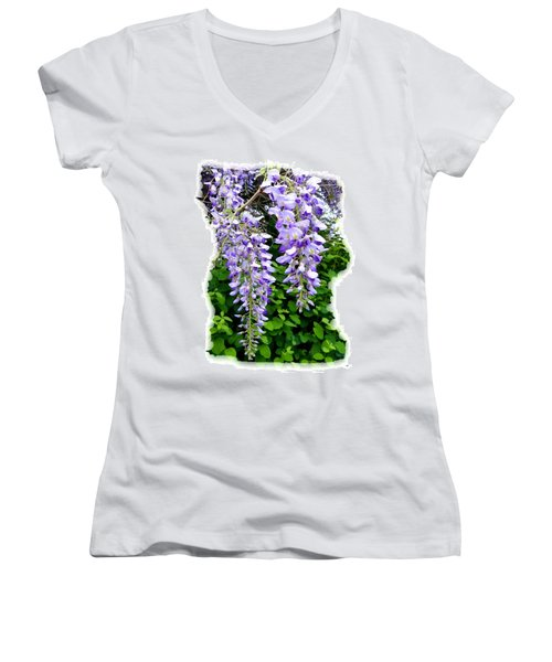 Lake Country Wisteria Women's V-Neck