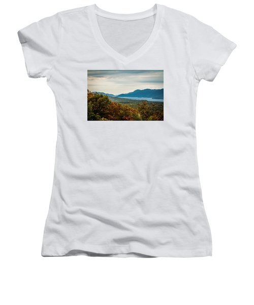 Lake George Women's V-Neck T-Shirt