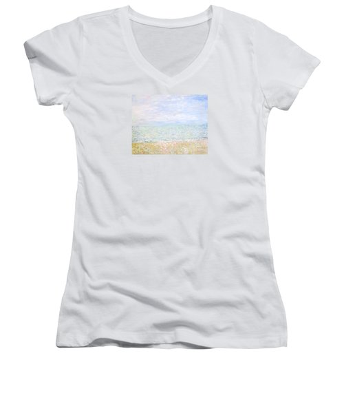 Lake Michigan At Oak St Bch Chicago Women's V-Neck (Athletic Fit)